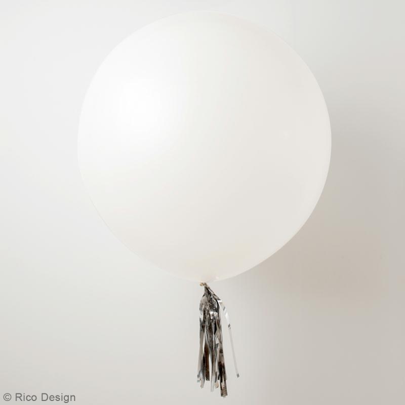 Maxi Ballons de baudruche Rico Design YEY - Blanc - 90 cm - 2 pcs - Photo n°2