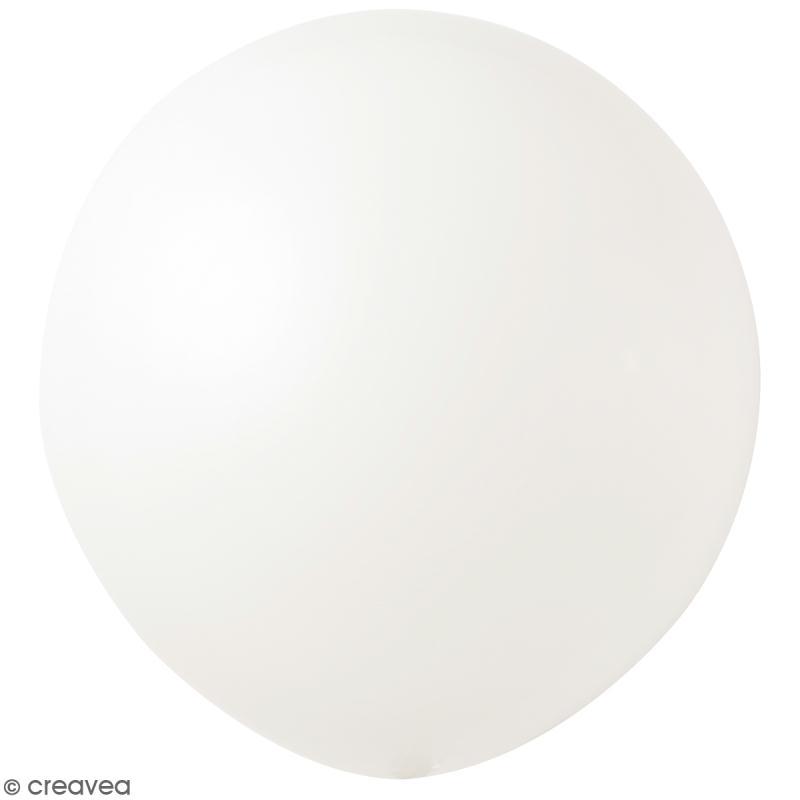 Maxi Ballons de baudruche Rico Design YEY - Blanc - 90 cm - 2 pcs - Photo n°1