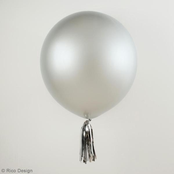 Maxi Ballons de baudruche Rico Design YEY - Argenté - 90 cm - 2 pcs - Photo n°2