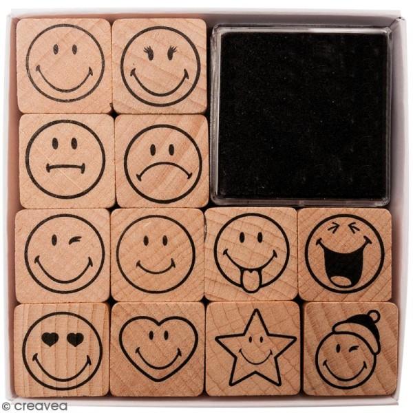 Set Tampons - Smileys - 12 pcs - Photo n°1