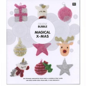 Livre Creative Bubble Eponges à crocheter - Thème Magical Christmas - 21 x 24 cm