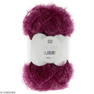 Creative Bubble - Fil à crocheter pour éponge - Lilas - 50 g