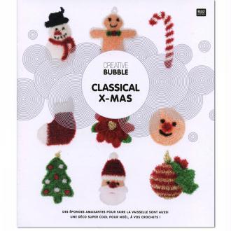 Livre Creative Bubble Eponges à crocheter - Thème Classical Christmas - 21 x 24 cm