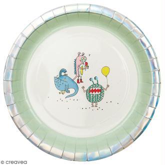 Assiettes en carton Rico design - Monster Party - 23 cm - 12 pcs