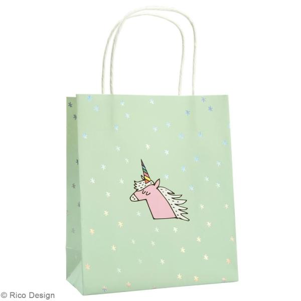 Lot de sacs en papier - Magical summer licorne - 18 x 21 cm - 3 pcs - Photo n°2