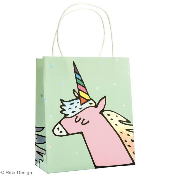 Lot de sacs en papier - Magical summer licorne - 18 x 21 cm - 3 pcs - Photo n°3