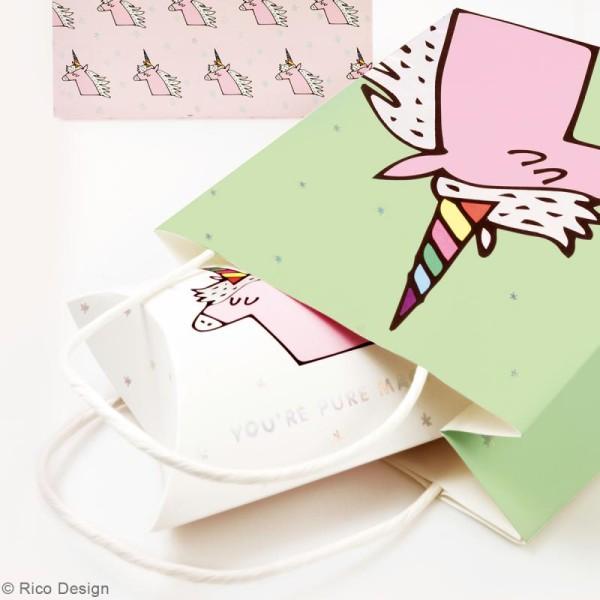 Lot de sacs en papier - Magical summer licorne - 18 x 21 cm - 3 pcs - Photo n°4