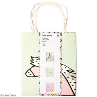 Lot de sacs en papier - Magical summer licorne - 18 x 21 cm - 3 pcs