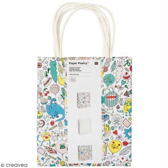 Lot de sacs en papier - Monster party - 18 x 21 cm - 3 pcs