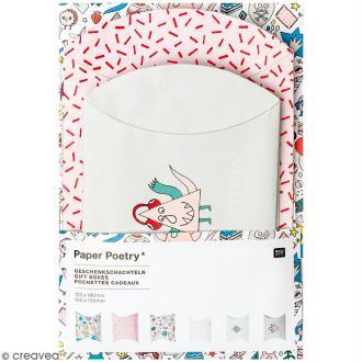 Lot de pochettes cadeaux - Monster party - 10 X 15 cm et 12 x 18 cm - 6 pcs