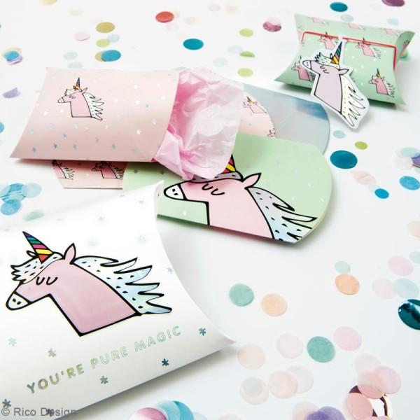 Lot de pochettes cadeaux - Magical summer licorne - 2 tailles - 6 pcs - Photo n°2