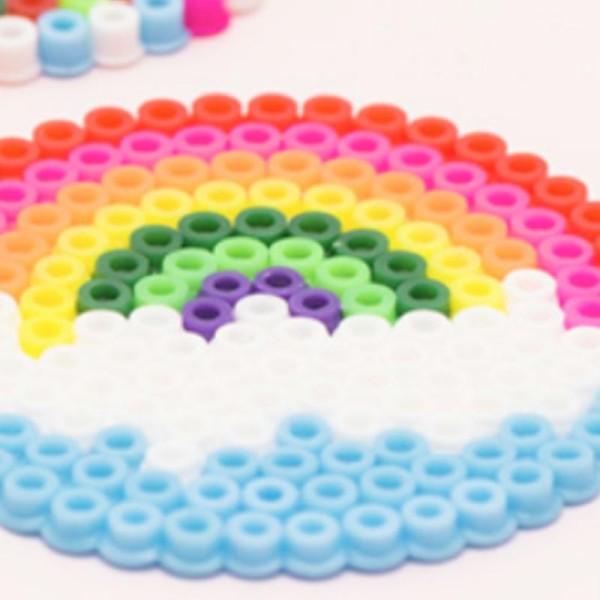 Plaque carrée pour perles à repasser Maxi - Picots décalés - 14 x 14 cm - 2 pcs - Photo n°2