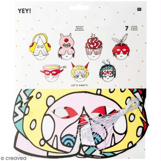 Masques Monster party - Paper Poetry - 7 pcs