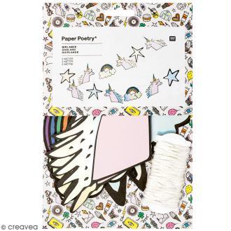Kit Guirlande Magical summer licorne à faire soi même - Rico Design