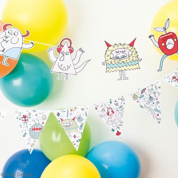 Kit Guirlande Fanions Monster party à faire soi même - Rico Design - Photo n°2