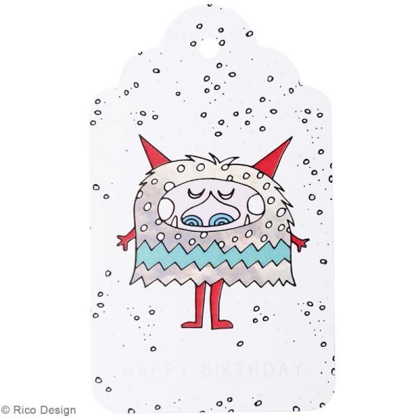 Etiquettes cadeaux - Monster party - 5 à 7,5 cm - 30 pcs - Photo n°3