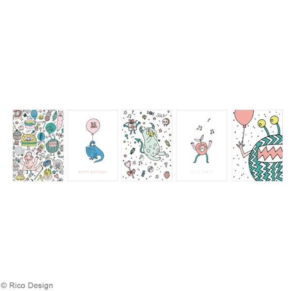 Set cartes postales - Monster party - 12,5 x 17,6 cm - 15 pcs - Photo n°2