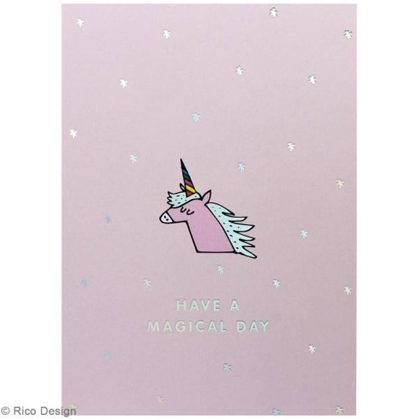 Set cartes postales - Magical summer licorne - 12,5 x 17,6 cm - 15 pcs - Photo n°2