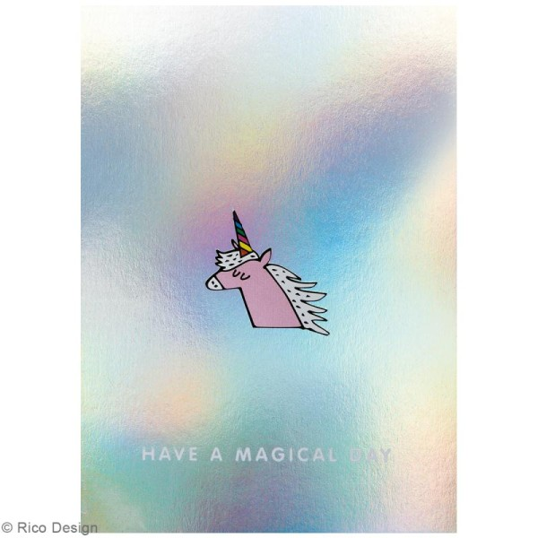 Set cartes postales - Magical summer licorne - 12,5 x 17,6 cm - 15 pcs - Photo n°4