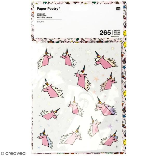 Stickers - Magical summer licorne - 265 pcs - Photo n°1