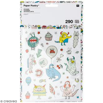Stickers - Monster party - 290 pcs