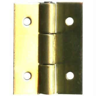 Charnière à clouer dorée 8 x10 mm - Lot de 4