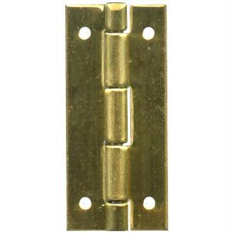 Charnière à clouer dorée 9 x 20 mm - Lot de 4