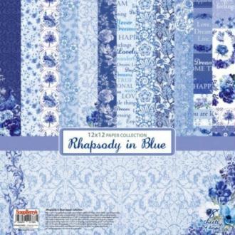 8 Papiers Fantaisis 30.5 cm SCRAPBERRY'S RHAPSODY IN BLUE