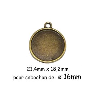 2 Supports Cabochon Barrette Clip Pour Cabochon De 16mm En Métal De Couleur Bronze