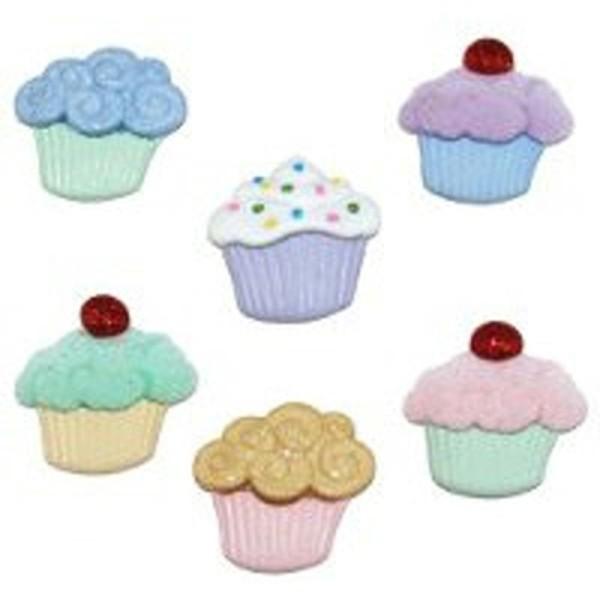 Boutons Dress It Up - Sweet Treats Cupcake / Gateaux - Photo n°1