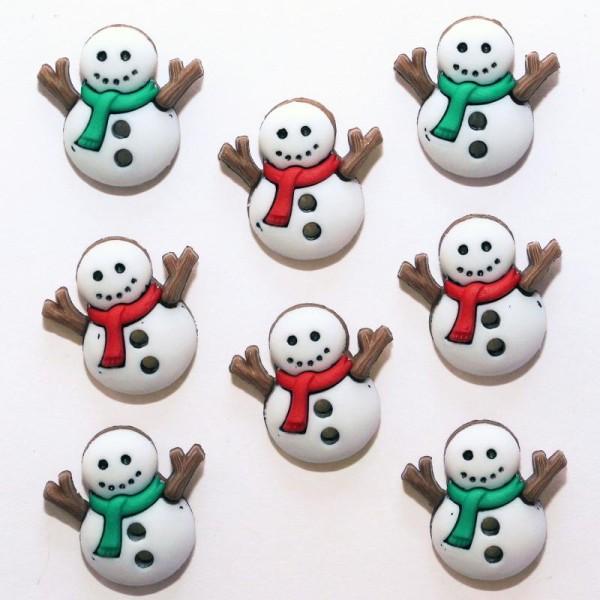 Boutons Dress It Up : Collection Noël - Bonhomme de Neige - Sew Cute Snowman - Photo n°1