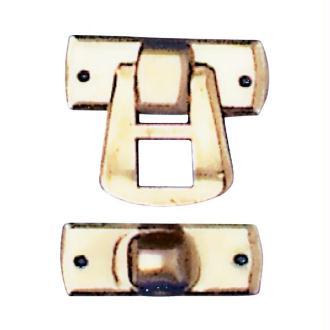 Fermeture métal doré 16 x 20 mm - Lot de 2