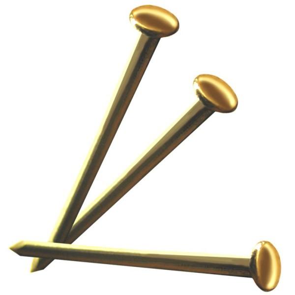 Mini clou laiton doré 9 x 0,9 mm - 50g - Photo n°1