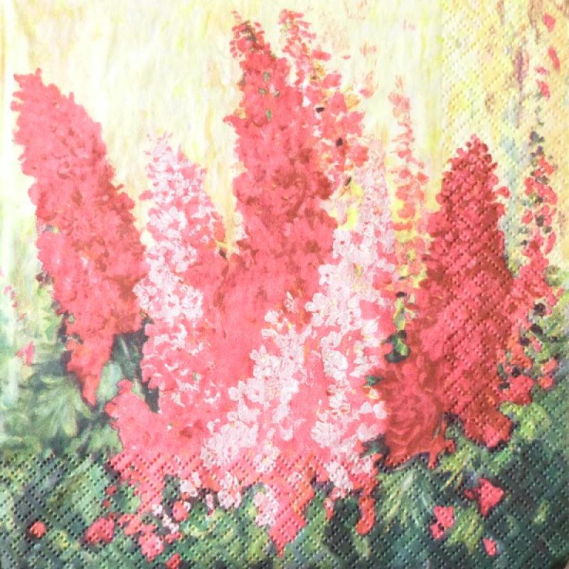 4 serviettes en papier d coupage collage 33 cm fleur rose 59 serviette fleurs creavea. Black Bedroom Furniture Sets. Home Design Ideas