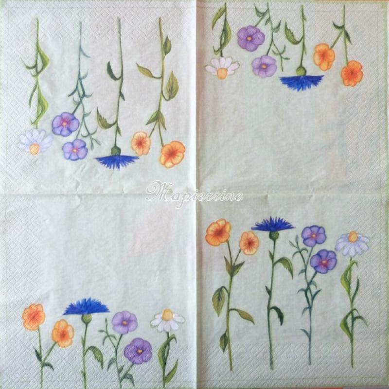 4 serviettes en papier d coupage collage 33 cm fleurs 70 serviette fleurs creavea. Black Bedroom Furniture Sets. Home Design Ideas