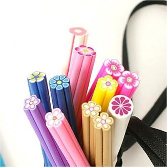 Fimo canes fimo fleurs pour ongles et bijoux (10 pièces) Multicolore