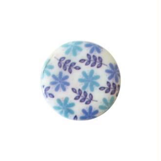 2 perles rondes fabrication bijoux en nacre 3 cm FEUILLAGE BLEU