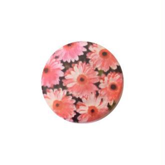 2 perles rondes fabrication bijoux en nacre 3 cm FLEUR ROSE