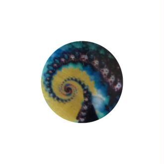 2 perles rondes fabrication bijoux en nacre 3 cm SPIRALE