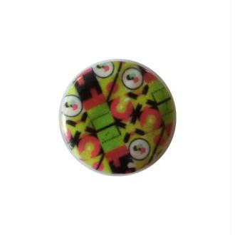 2 perles rondes fabrication bijoux en nacre 3 cm GEOMETRIE