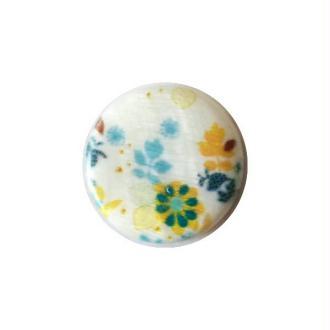 2 perles rondes fabrication bijoux en nacre 3 cm FLEUR TURQUOISE