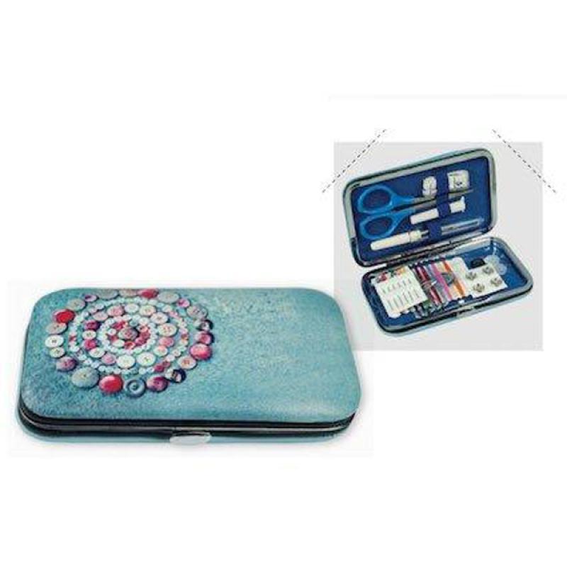 Kit de couture pour voyage ou maison bleu kit couture for Agessa ou maison des artistes