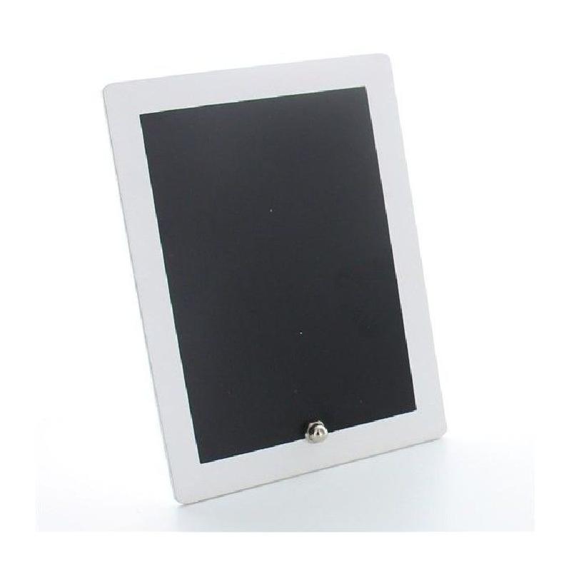 Mini tableau en ardoise entourage blanc 15 5 x 11 5 cm for Ardoise pour cuisine