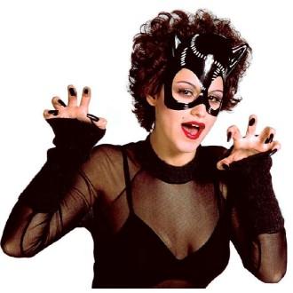 Masque noir en PVC Cat girl