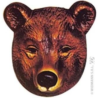 4 masques ours enfant PVC 3D - 19 x 16 cm