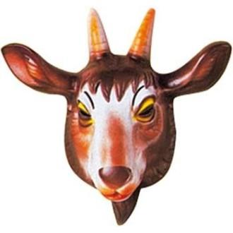 4 Masques chèvre enfant PVC 3D - 23 x 23 cm