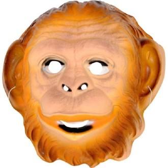 4 Masques singe PVC mixte 3D -21 x 20 cm