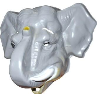 4 Masques éléphant adulte PVC 3D - 35 x 30 cm