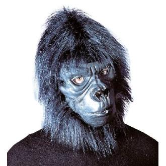 Masque gorille avec poils pelucheux