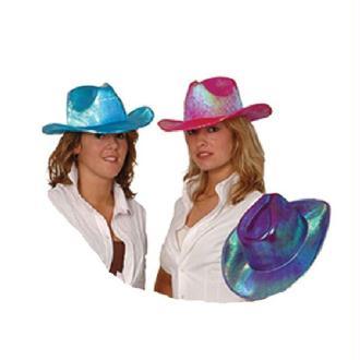 4 Chapeaux bleus holodélic de cow boy